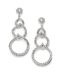 Adriana Orsini   Metallic Pave Hoop Earrings/1.4   Lyst