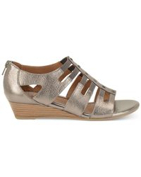 Söfft - Gray Ilana Wedge Sandals - Lyst
