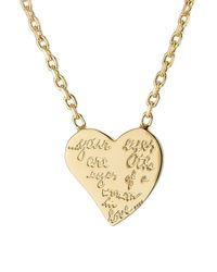 Valentino | Metallic Engraved Necklace - Gold | Lyst