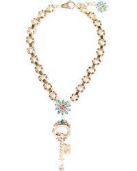 Dolce & Gabbana | Blue Medieval Key Pendant Necklace | Lyst