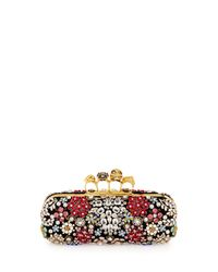 Alexander McQueen - Black Knuckle Box Brooch Crystal Clutch Bag - Lyst