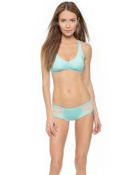 L*Space - Blue L* Wild Child Bikini Top - Fern - Lyst