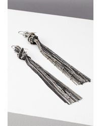 Forever 21 - Metallic Knotted Chain Drop Earrings - Lyst