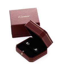 Cartier - Metallic Diamond Pierced Earrings - Vintage - Lyst