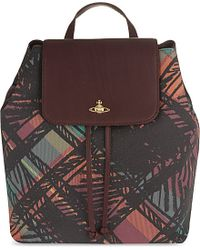 Vivienne Westwood - Purple Scribble Tartan Backpack - Lyst