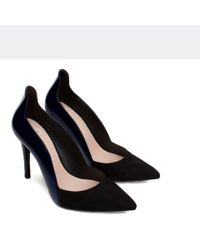 Zara | Black Combined High Heel Strappy Shoes | Lyst