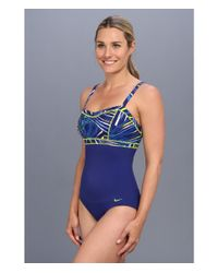 Nike - Blue Adjustable Elevation Tank High Support One Piece - Lyst