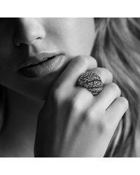 David Yurman - Metallic Hampton Cable Ring With Diamonds - Lyst