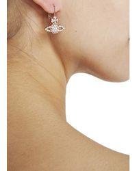 Vivienne Westwood | Pink Grace Bas Rose Gold Tone Swarovski Orb Earrings | Lyst