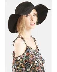 TOPSHOP - Black Floppy Wool Felt Hat - Lyst