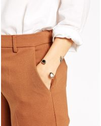 ASOS - Metallic Ethnic Open Cuff Bracelet - Lyst