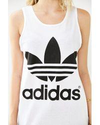 Adidas | Black Double Logo Tank Top | Lyst