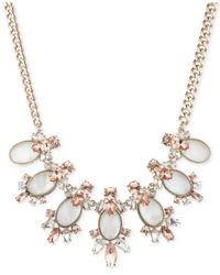 Givenchy | Metallic Gold-tone Mother-of-pearl And Crystal Bib Necklace | Lyst