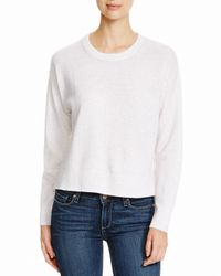 Aqua | Gray Cashmere Cashmere Athletic Tape Sweater | Lyst
