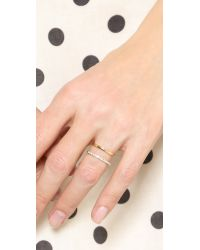 Elizabeth and James | Metallic Dylan Band Ring - Gold/clear | Lyst