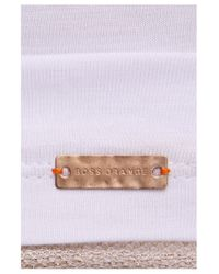 BOSS Orange | White T-shirt 'tamesh' In Cotton Blend | Lyst