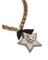 Lanvin | Metallic Crystal Embellished Star Pendant Necklace | Lyst