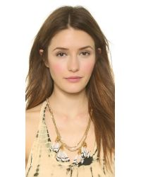 Serefina | Metallic Dancing Feathers Necklace - Stripe | Lyst