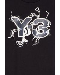 Y-3 - Black Flames Logo T-shirt for Men - Lyst