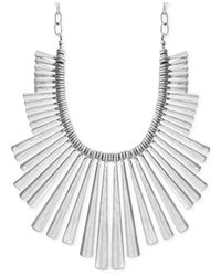 Lucky Brand - Metallic Silver-tone Statement Necklace - Lyst