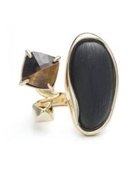 Alexis Bittar - Black Liquid Bezel Pyramid Tiger Eye Ring - Lyst