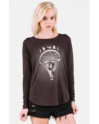 Volcom - Black 'arrow' Graphic Tee - Lyst