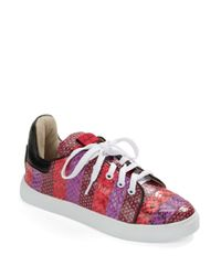 Isa Tapia | Red Kelly Snakeskin Sneakers | Lyst