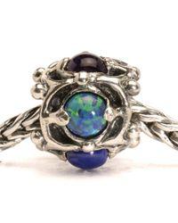 Trollbeads | Metallic Wisdom Silver And Stone Charm Bead | Lyst