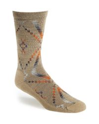 Woolrich | Natural 'blanket' Merino Wool Blend Socks for Men | Lyst