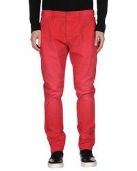 Armani Jeans - Red Denim Pants for Men - Lyst