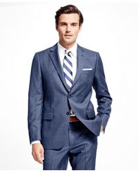 Brooks Brothers - Blue Fitzgerald Fit Plaid 1818 Suit for Men - Lyst