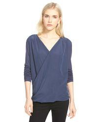 Trouvé | Blue Drape Top | Lyst