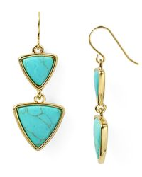 Ralph Lauren | Blue Lauren Triangle Drop Earrings | Lyst