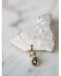 Free People | Metallic Blair Lauren Brown Womens Raw Diamond Drop Necklace | Lyst