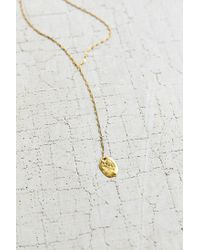 Urban Outfitters - Metallic Flat Disc Lariat Necklace - Lyst