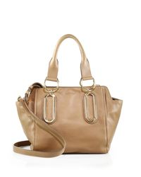 See By Chloé | Brown Paige Leather Satchel | Lyst