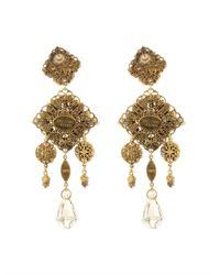 Erickson Beamon | Metallic Marchesa Crystal & Gold-Plated Earrings | Lyst