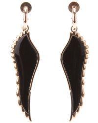 Garrard | Black 18kt Rose Gold Wing Earrings | Lyst