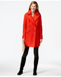 Vince Camuto | Red Oversize Double-breasted Peacoat | Lyst