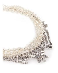 Joomi Lim - White 'rebel Romance' Faux Pearl Crystal Collar Necklace - Lyst