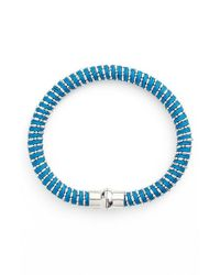 Nu Brand | Blue Beaded Bracelet - Sapphire | Lyst