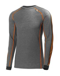 Helly Hansen | Gray Warm Ice Baselayer Top for Men | Lyst