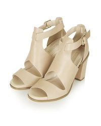 TOPSHOP - Natural Gambas Cut-Out Shoes - Lyst