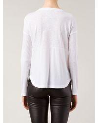 Splendid - White Longsleeved T-Shirt - Lyst
