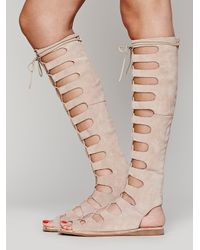 Free People - Natural Rae Gladiator Sandals - Lyst