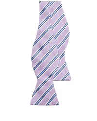 Brooks Brothers | Purple Oxford Stripe Bow Tie for Men | Lyst
