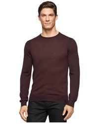 Calvin Klein | Brown Colorblocked Crew-neck Sweater for Men | Lyst