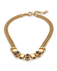 J.Crew | Metallic Resin-On-Metal Necklace | Lyst
