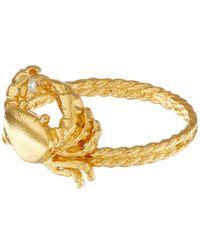 Alex Monroe | Metallic Gold-plated Crab Diamond Ring | Lyst