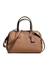 COACH | Brown Nolita Mini Textured Leather Satchel | Lyst